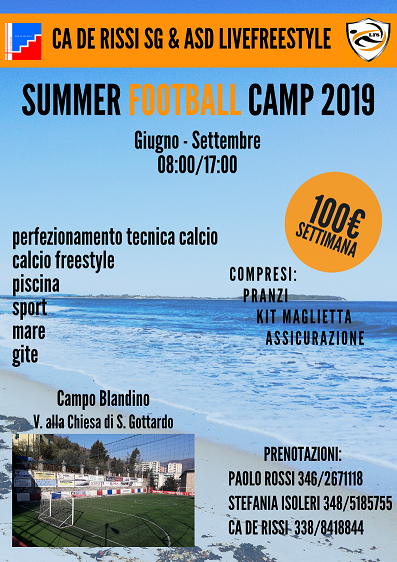 Summer football camp 2019 2